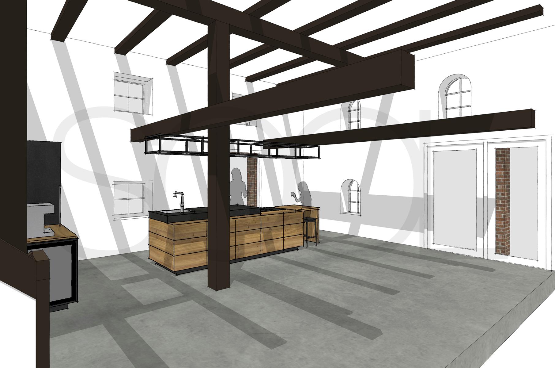 Keuken iepenhout Assen