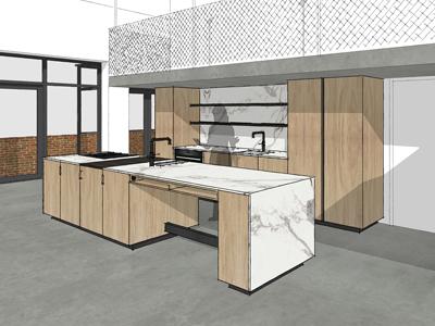 Keuken eikenhout Amsterdam