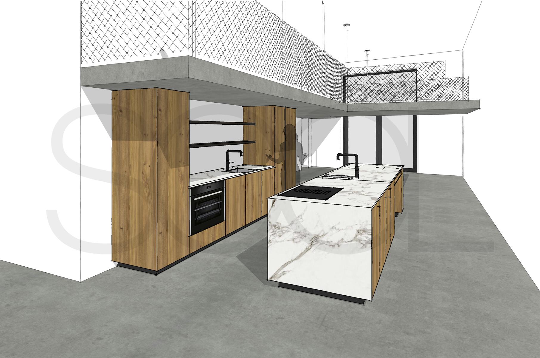 Keuken iepenhout Amsterdam