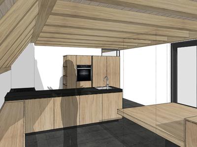 Keuken eikenhout Uffelte