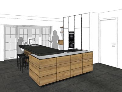 Keuken iepenhout Westeremden