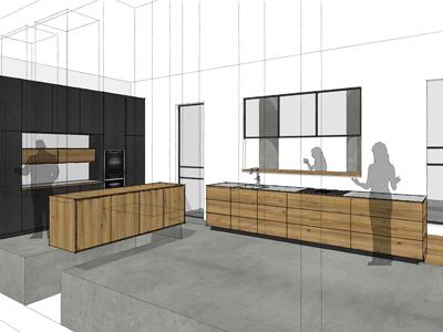 keuken iepenhout Wageningen