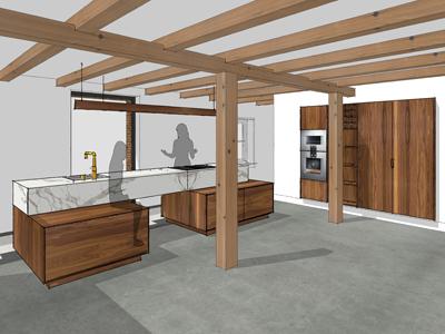 keuken notenhout Hoogmade 02