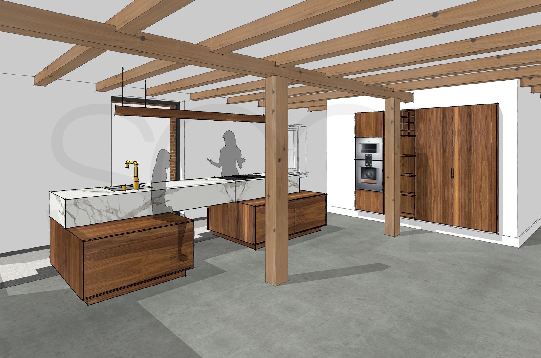 Keuken notenhout