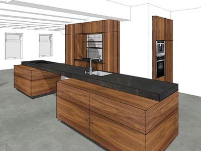Keuken Notenhout Bovensmilde 02